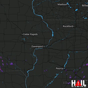 Hail Map Melcher-dallas, IA 07-04-2017