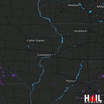 Hail Map Melcher-dallas, IA 07-04-2017