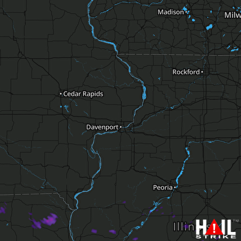 Hail Map Springfield, IL 07-16-2017