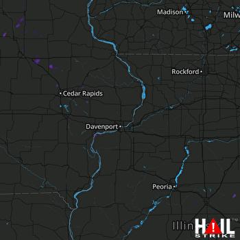 Hail Map Muscatine, IA 07-21-2017
