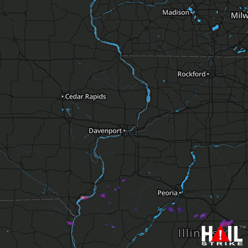 Hail Map Fort Madison, IA 08-19-2017