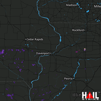 Hail Map Pleasantville, IA 08-21-2017