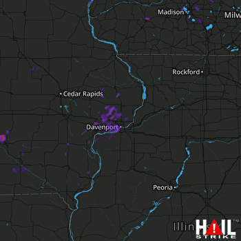 Hail Map Dodgeville, WI 09-21-2017