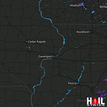 Hail Map Middleton, WI 05-09-2018