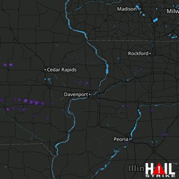 Hail Map Oskaloosa, IA 05-12-2018