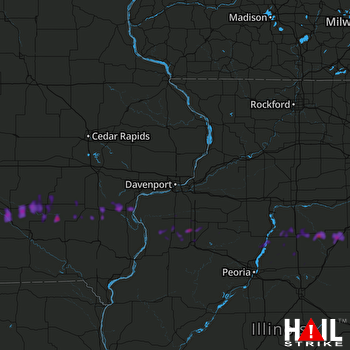 Hail Map Oskaloosa, IA 05-13-2018