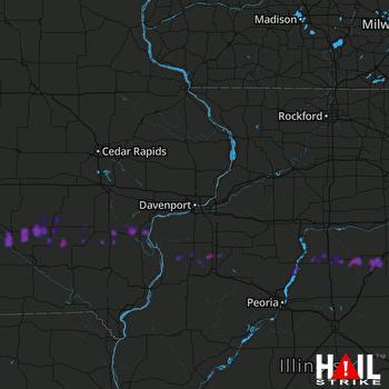 Hail Map Oskaloosa, IA 05-13-2018