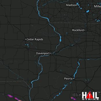 Hail Map Springfield, IL 05-15-2018