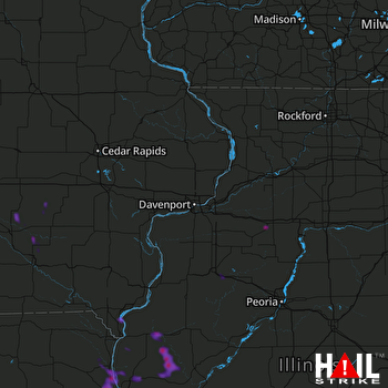 Hail Map Pittsfield, IL 05-26-2018