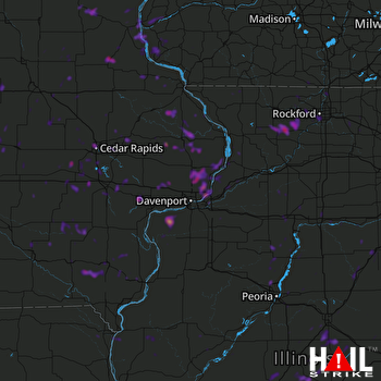 Hail Map Cedar Rapids, IA 06-09-2018