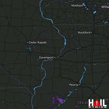 Hail Map Rochester, IL 06-09-2018