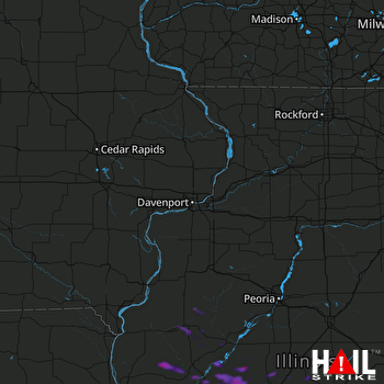 Hail Map La Grange, IL 06-11-2018