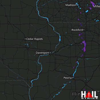 Hail Map Watertown, WI 06-15-2018