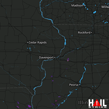 Hail Map Quincy, IL 07-14-2018