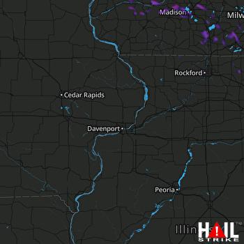 Hail Map Sun Prairie, WI 08-09-2018
