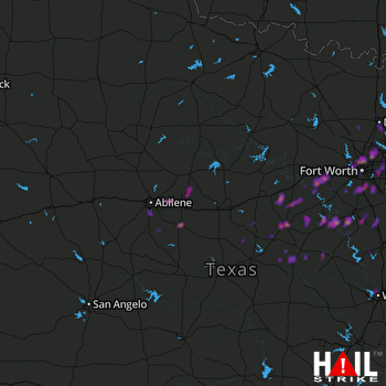 Hail Map Arlington, TX 03-09-2019
