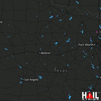 Hail Map Aubrey, TX 03-24-2019
