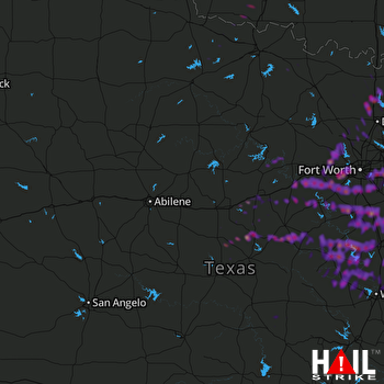 Hail Map Arlington, TX 10-11-2019