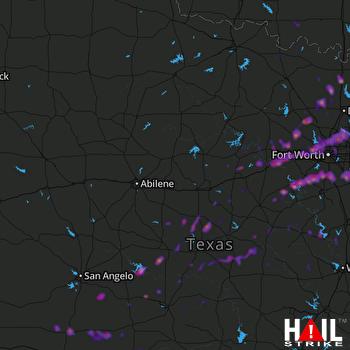 Hail Map Irving, TX 10-21-2019