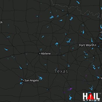 Hail Map Lometa, TX 03-20-2020
