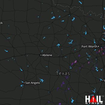 Hail Map Arlington, TX 03-28-2020
