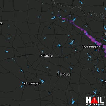 Hail Map Arlington, TX 04-28-2020