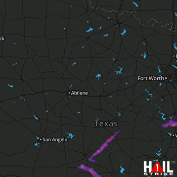 Hail Map West, TX 05-09-2021
