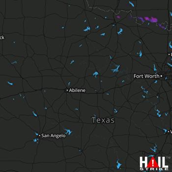 Hail Map Ryan, OK 05-10-2021