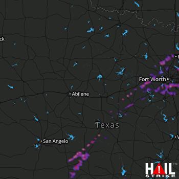 Hail Map Denton, TX 05-11-2021