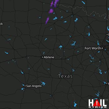 Hail Map ABILENE 10-13-2021