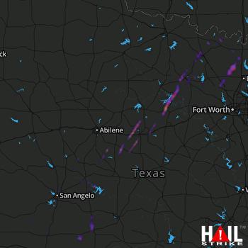 Hail Map Eastland, TX 10-13-2021