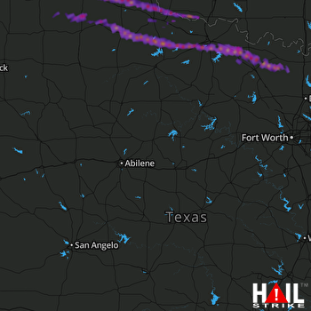 Hail Map Henrietta, TX 04-21-2017