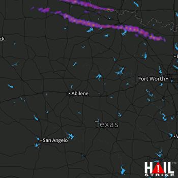 Hail Map Henrietta, TX 04-21-2017