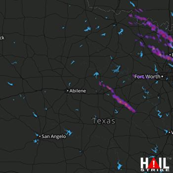 Hail Map Carrollton, TX 04-22-2017