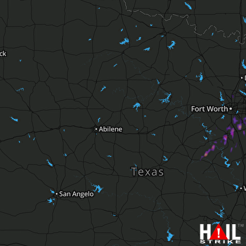 Hail Map Mansfield, TX 04-26-2017