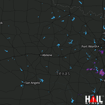 Hail Map Grand Prairie, TX 05-03-2017