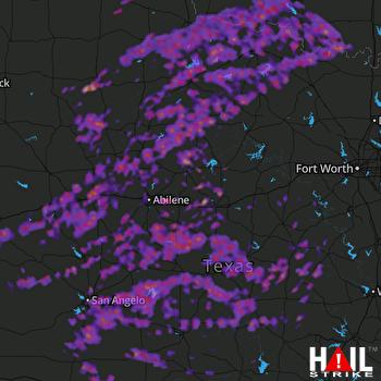 Hail Map San Angelo, TX 05-19-2017
