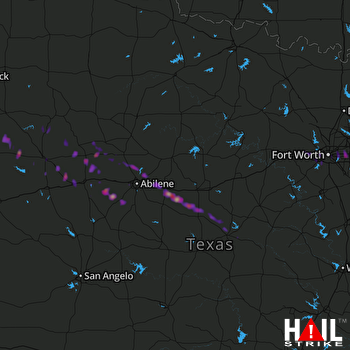 Hail Map Arlington, TX 05-23-2017