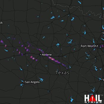 Hail Map Arlington, TX 05-23-2017