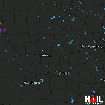 Hail Map Graham, TX 06-14-2017