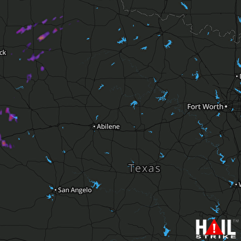 Hail Map Mesquite, TX 09-19-2017