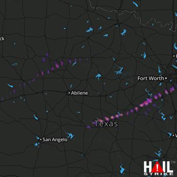 Hail Map Mansfield, TX 03-28-2018