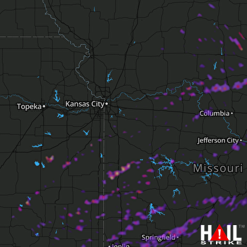 Hail Map Lebanon, MO 05-23-2019