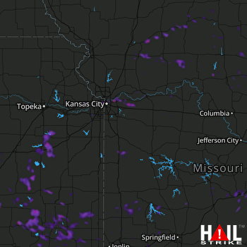 Hail Map Kansas City, MO 06-16-2019