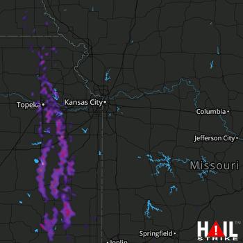 Hail Map Ottawa, KS 08-01-2019