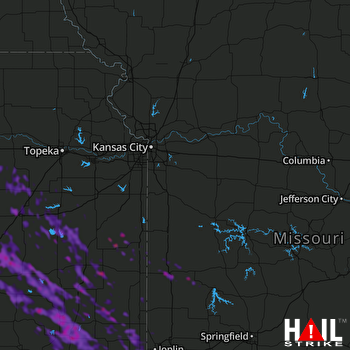 Hail Map Junction City, KS 08-08-2019