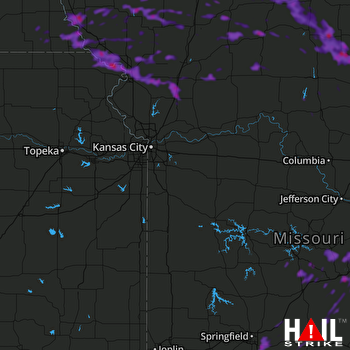 Hail Map Nixa, MO 08-20-2019
