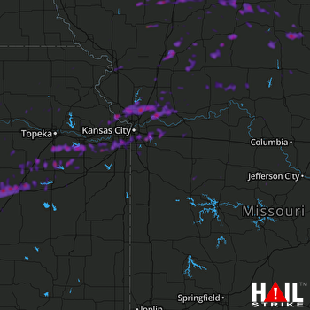 Hail Map Overland Park, KS 09-28-2019