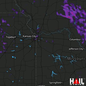 Hail Map Overland Park, KS 07-10-2021