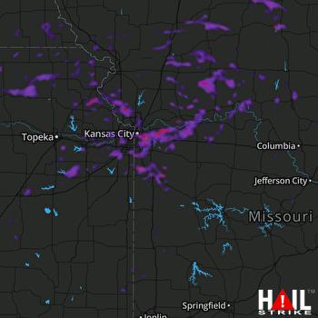 Hail Map Kansas City, MO 08-13-2021